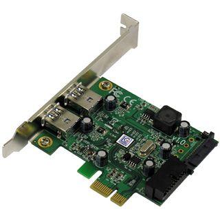 LC-Power LC-PCI-USB3-II 2 Port PCIe x1 inkl. Low Profile Slotblech retail