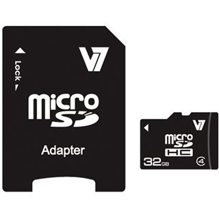 32 GB V7 High Capacity SDHC Class 4 Retail inkl. Adapter