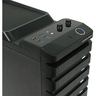 Cooltek K5 3.0 Midi Tower ohne Netzteil schwarz