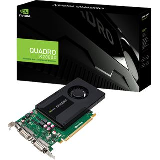 2GB PNY Quadro K2000D Aktiv PCIe 2.0 x16 (Retail)