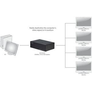 Digitus DS-42100 4-fach VGA-A/V-Splitter