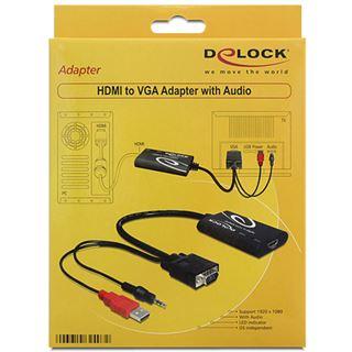 Delock Adapter für HDMI zu VGA+Sound (62407)