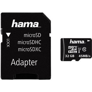32 GB Hama Mobile microSDHC UHS-I Retail inkl. Adapter