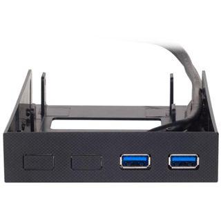 """Silverstone 3.5"""" Einschubrahmen inkl. 2 USB 3.0 Anschlüssen für 2x 2.5"""" Festplatten (SST-FP38B)"""