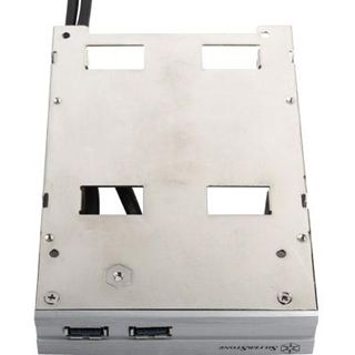 """Silverstone 2x USB 3.0 + 2x 2,5"""" HDD silber Einbaurahmen für 3,5"""" (SST-FP36S-E)"""