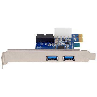 Silverstone 4x USB 3.0 (2x intern) Erweiterung für PCIe x1 (SST-EC04-P)