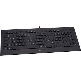 CHERRY STRAIT Corded Keyboard USB Franzoesisch schwarz (kabelgebunden)