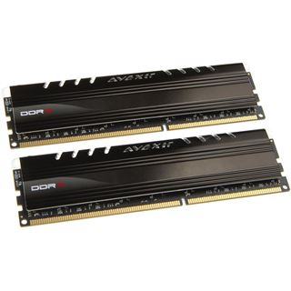 8GB Avexir Core Series gruene LED DDR3-1600 DIMM CL9 Dual Kit