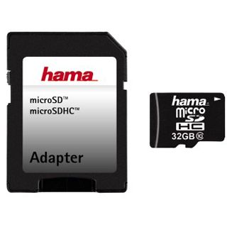 32 GB Hama Tablet-PC microSDHC Class 10 Retail inkl. Adapter