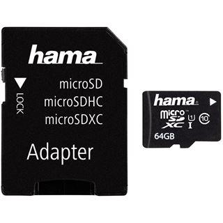 64 GB Hama UHS-I Mobile microSDXC Class 10 Retail inkl. 2 Adapter