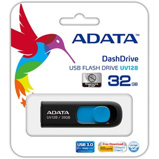 32 GB ADATA UV128 schwarz/blau USB 3.0