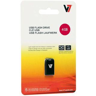 4 GB V7 Nano schwarz USB 2.0