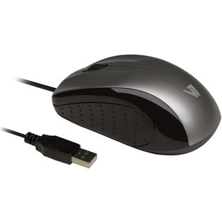V7 Full Size Optical LED Mouse OEM USB schwarz/silber (kabelgebunden)