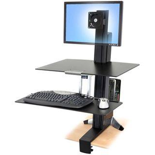 Ergotron 33-344-200 WorkFit-S HD Tischhalterung schwarz/silber