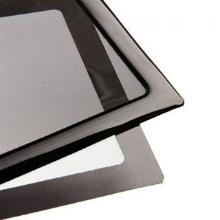 DEMCiflex 480mm schwarz Staubfilter für Radiator (4x120mm Square black mesh/magn)