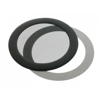 DEMCiflex 80mm rund schwarz Staubfilter für Gehäuse (80mm Round black mesh)