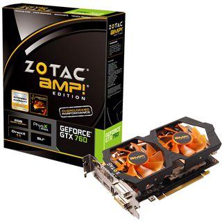 2GB ZOTAC GeForce GTX 760 AMP! Aktiv PCIe 3.0 x16 (Retail)