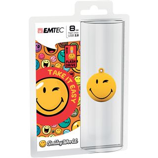 8 GB EMTEC Smiley World SW100 Take it easy gelb USB 2.0