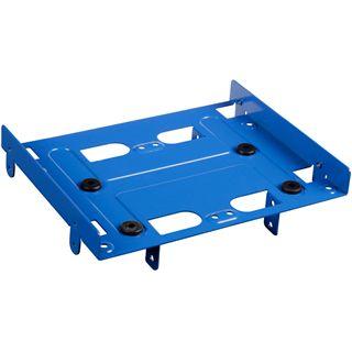 """Sharkoon 5.25"""" BayExtension blau Einbaurahmen für 4x 2.5"""" Festplatten (4044951013562)"""