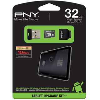 32 GB PNY microSD Class 10 Retail inkl. Adapter