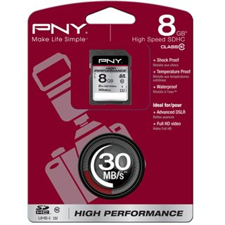 8 GB PNY High Performance SDHC Class 10 Retail