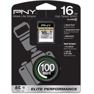 16 GB PNY Elite Performance SDHC Class 10 Retail