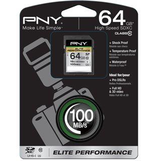 64 GB PNY Elite Performance SDXC UHS-I Retail