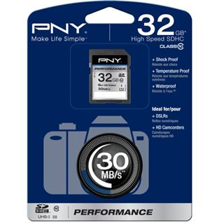 32 GB PNY Performance SDHC Class 10 Retail