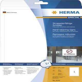 Herma Schilder A4 weiß 190x275 mm Folie 25 St.