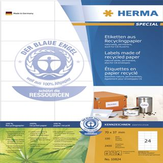 Herma 2400 Universal-Etiketten 7.0x3.7 cm (100 Blatt (2400 Etiketten))