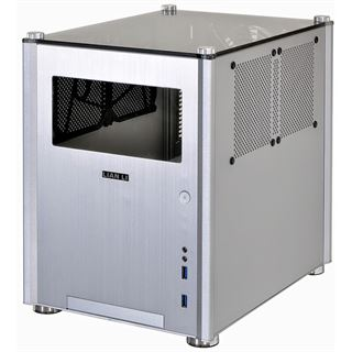 Lian Li PC-Q36WA mit Sichtfenster Mini-ITX ohne Netzteil silber