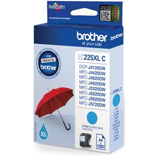 Brother Tinte LC225XLC cyan