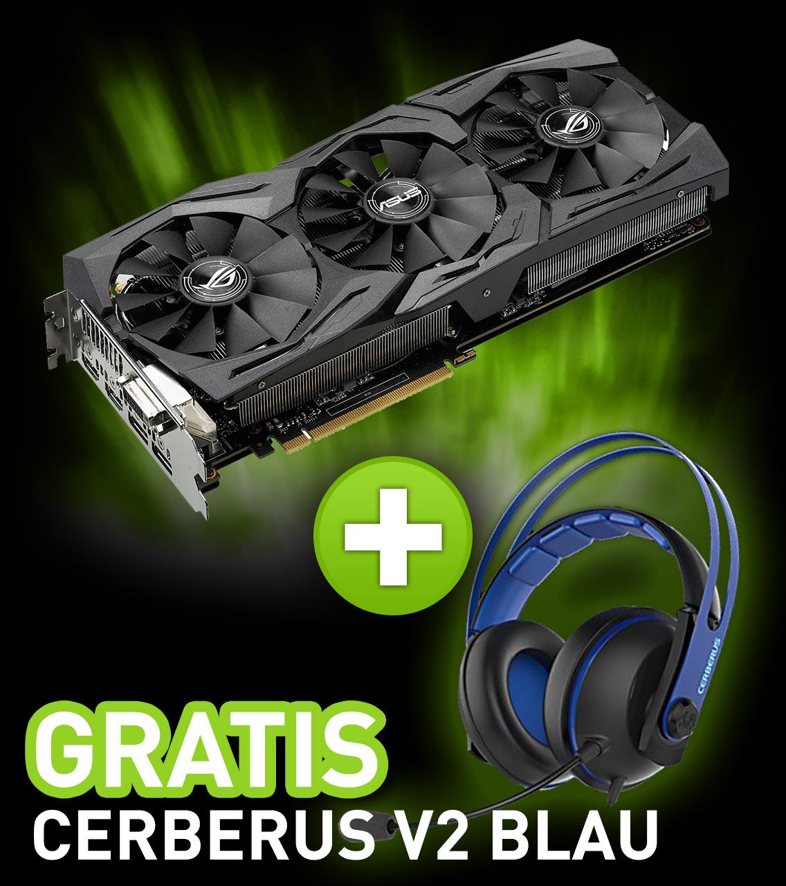 8GB Asus GeForce GTX 1080 Strix Gaming Aktiv PCIe 3.0 x16 (Retail)